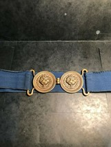 Vintage Army Officer's BELT/2 Lions Heads Buckles From The 19TH Century ! - $74.70
