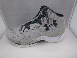STEPHEN CURRY / AUTOGRAPHED UNDER ARMOUR PLAYER MODEL GREY SNEAKER / JSA COA image 3