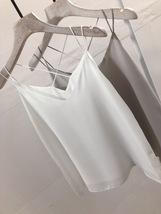 Dusty Pink V-neck Chiffon Sleeveless Top Outfit Wedding Bridesmaid Tops US0-US12 image 8