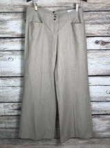 Express Design Studio Women's Size 10 Wide Leg Dress Pants Tan Pinstripe... - $19.13