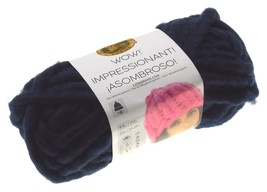 Lion Brand Yarns Wow In The Navy Skein Ball Acrylic Wool Crocheting Jumb... - $22.79
