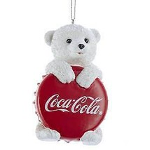 Coca-Cola® Polar Bear Cub With Bottle Cap Ornament w - $16.99