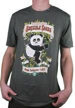 LRG Strictement Roots Herbe Joint Fumer Panda Foncé Olive Black Ou T-Shirt NW