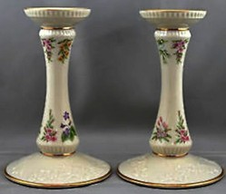 Pair LENOX USA FINE IVORY THE CONSTITUTION LIMITED EDITION 1989 CANDLEST... - $93.49