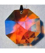 Swarovski 28mm Aurora Borealis Crystal Octagon Prism - $12.75