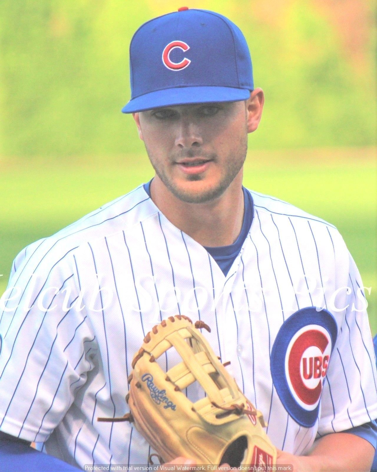 Primary image for Photo Kris Bryant WORLD CHAMPION Chicago Cubs MVP 2016 Mysterious Eyes KB