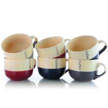 MEGA-EL-LATTELOFT Elama Latte Loft 6-Piece 18 oz. Mug Set, Assorted Colors - $39.09