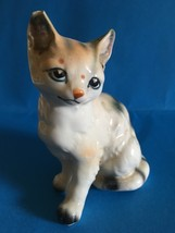 "Ceramic Calico Cat, 3.5"" H, collector, chip in ear - $10.95"