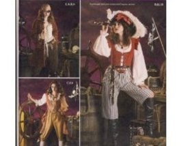 Simplicity 3677 Women Pirate Steampunk Costume Pattern - $9.95