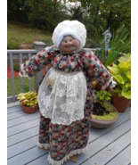 Oversize Vacuum Cover Soft Sculpture Grandma - Jeweltone Patchwork with ... - $95.00
