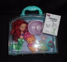 Disney store animator's transport case princess ariel mini doll set flou... - $45.45
