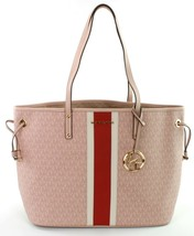 Michael Kors Monogrammed Shopper Tote Bag PVC Large Handbag Ballet Pink ... - $322.41