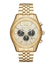 Michael Kors Gold Lexington Men's Gold-tone Chronograph Mk8494 Watch - $185.00