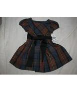 Ralph Lauren dress size 12 months Red Tartan Plaid baby girl Xmas Holida... - $39.59
