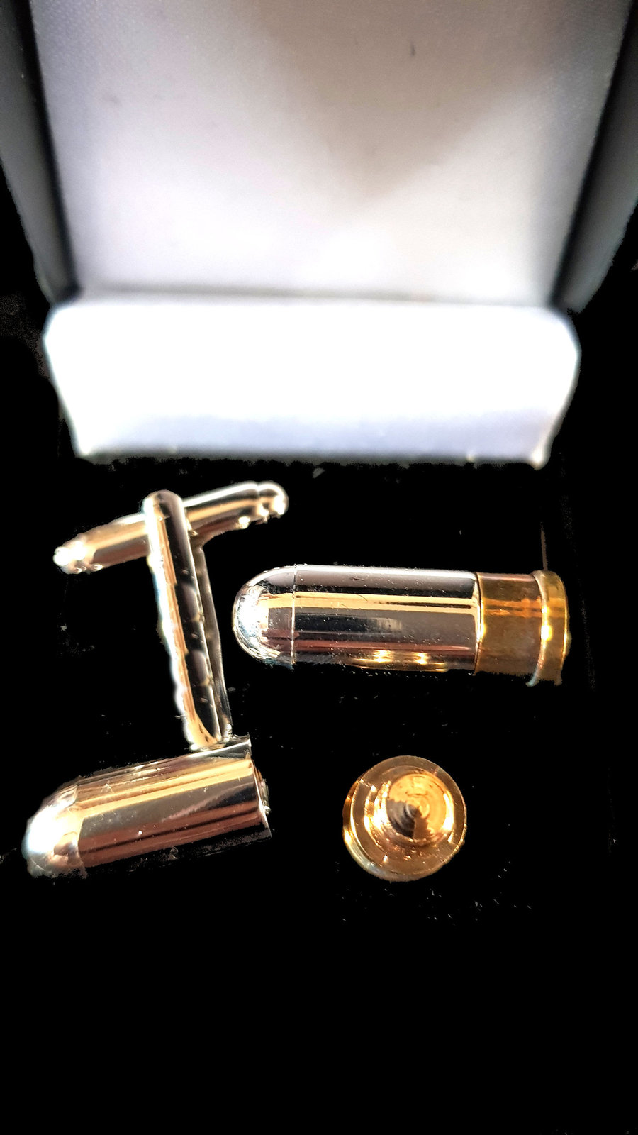 bullet cufflinks with secret department looks brilliant vintage made in 1942   i