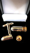 bullet cufflinks with secret department looks brilliant vintage made in 1942   i image 1