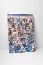 "New York Manhattan Top Down Gallery Wrapped Canvas Print. 30""x20"" or 20""... - $43.75+"