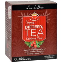 Laci Le Beau Super Dieter's Tea Cranberry Twist - 60 Tea Bags - $15.99