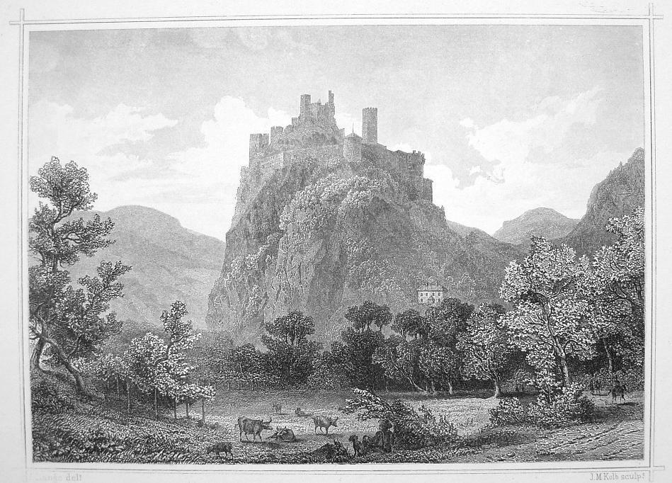 ITALY South Tyrol Castle Firmiano Castel - 1870s Original Engraving Print