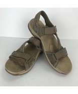 Magellan Outdoors Size 8 M Tan Beige Suede Leather Sandals Shoes Hook An... - $23.75