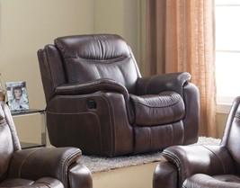 McFerran SF3739-C Brown Premium Leather Air Fabric Reclining Chair - €660,01 EUR