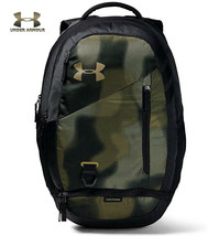 Under Armour UA Hustle 4.0 Backpack Khaki / Green Camo Bag Laptop School... - $64.90