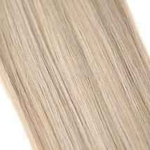 YoungSee 14inch Remy Human Hair Halo Extensions with Clips Dark Ash Brown with G image 5