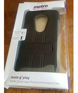 Motorola Moto G7 Play KICK -  Dual Layer Kickstand Protective Case - Black - $7.83
