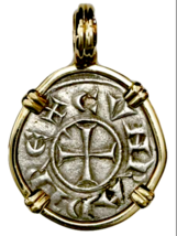 KNIGHTS TEMPLAR CRUSADER 1152AD COIN PENDNAT JEWELRY PIRATE GOLD COINS T... - $1,250.00