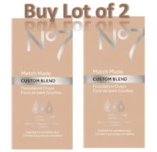 No7 Deeply Honey Match Made Custom Blend Foundation Drops 15ml Lot of 2 ... - $14.50