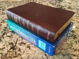 NIV (1984) Large Print Preference Bible Personal Size Burgundy Leather  - $79.99