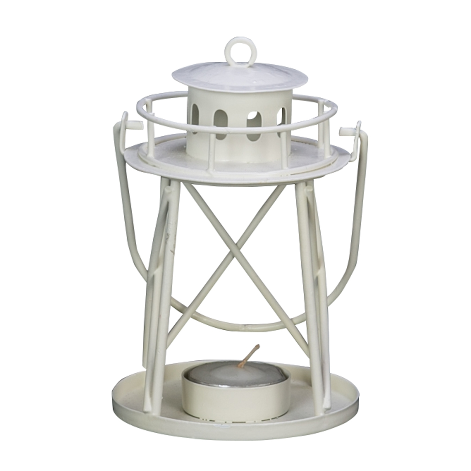 White Lighthouse Candle Holder