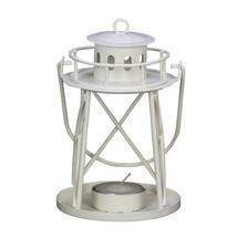White Lighthouse Candle Holder - $240,30 MXN