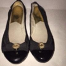 Michael Kors Shoes Size 6 Black Ballet Flats Slip On MK Logo  - $54.45