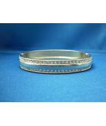 Vintage Gold Toned Cubic Zirconia Encrusted Snap Bangle Bracelet - $24.75