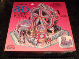Ceaco Jigsaw Puzzle 1995 3D Ferris Wheel that Really Turns 509 Pieces Se... - $19.99