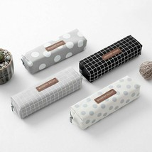 Pencil Case Bag Cute Kawaii Canvas High Capacity Letter Girls Gift Schoo... - $4.99+