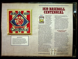 Cooperstown Collection Willabee & Ward 1939 Baseball Centennial Patch 18... - $9.45