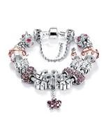 Women Stunning Purple Luxurius Murano Crystal Stone Charm Bracelet Gift ... - $12.99
