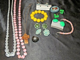 Costume Jewelry (Colorful Tones) AA20-7289 Vintage
