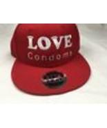 Red Baseball Otto Cap Love Condoms Snapback Hat Men's Women's Unisex - $17.75