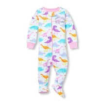 NWT The Childrens Place Dinosaur Girls Stretchie Footed Sleeper Pajamas 2 3 4 5 - $8.99
