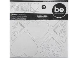 Creative Imaginations Blank Chipboard Heart d-mensions, 3 Sheets & 24 Foam Dots