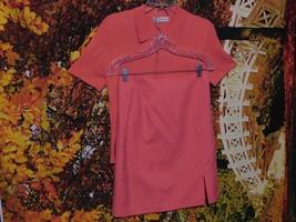Women's 2 Piece Set Short Sleeve ZIP-UP Sweater & Skirt By Dress Barn / Size 4 - $19.85