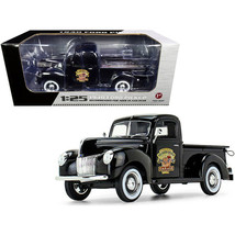 1940 Ford Pickup Truck Black The Busted Knuckle Garage 1/25 Diecast Model Car... - $67.86