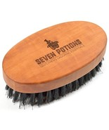 Seven Potions Beard Brush For Men With 100% First Cut Boar Bristles. Mad... - $20.50