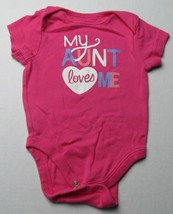 Infant Baby Girls 3-6 months Old Navy My Aunt Loves Me Shirt - $3.00