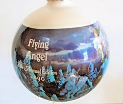 1990 M.I. Hummel Glass Christmas Ornament Flying Angel 8th Annual Editio... - $8.90