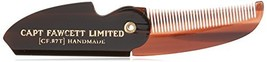Captain Fawcett's Folding Pocket Moustache Comb - CF.87T - Made in England image 1
