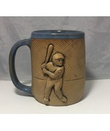 Baseball stoneware pottery Beer mug big 3D  handcrafted - $9.89